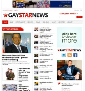 gaystarnews web design
