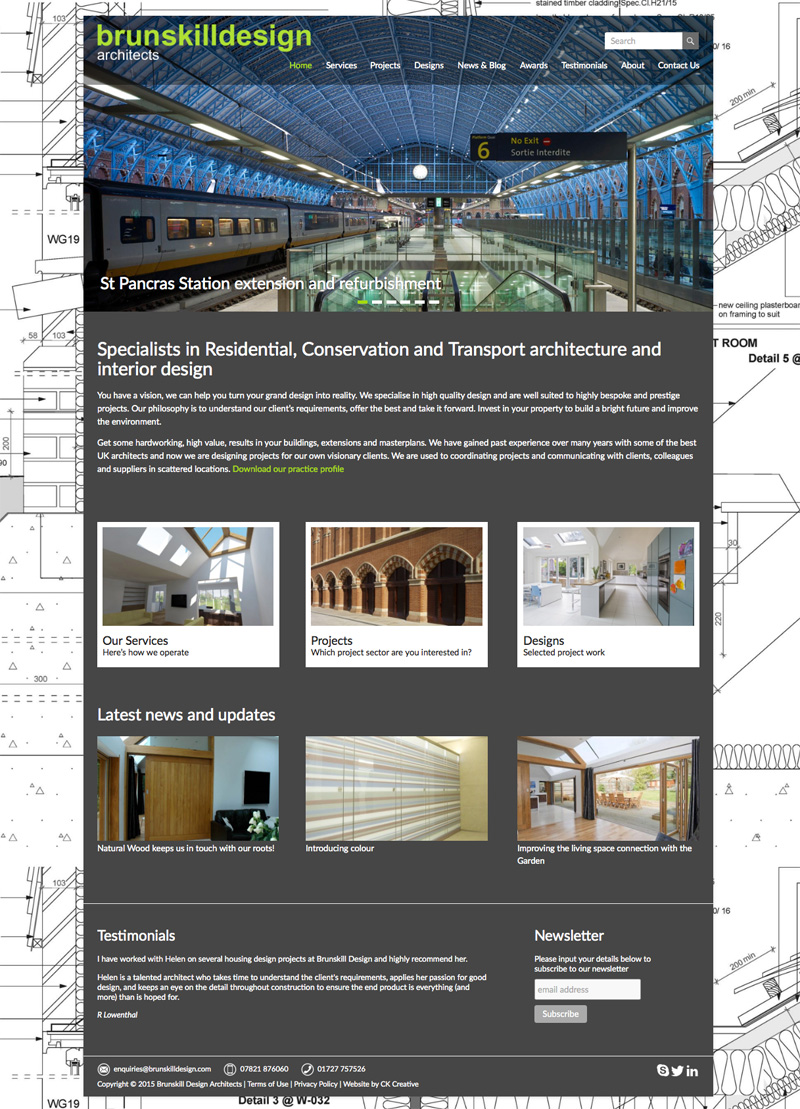 Responsive Website Design For An Architect Firm Ck Creative