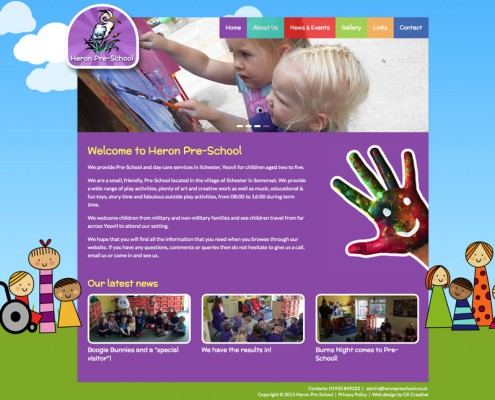 heron-pre-school-website-design